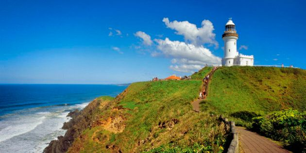 Cliff walk and lighthouse, Byron Bay, Cape Byron, New South Wales,