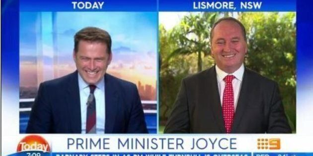Prime Minister Barnaby Joyce Says He Hasn't Got The Nuclear Codes