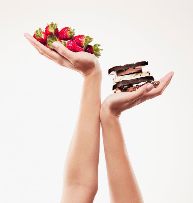 Fruit is a core food, while chocolate is a discretionary food.