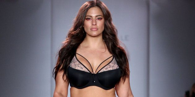 NEW YORK, NY - SEPTEMBER 14:  Model Ashley Graham walks the runway at Addition Elle Presents Holiday 2016 RTW + Ashley Graham Lingerie Collection at Kia STYLE360 NYFW on September 14, 2016 in New York City.  (Photo by Thomas Concordia/WireImage Style360)
