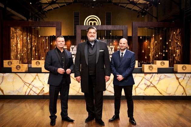 The mighty MasterChef judges, George Calombaris, Gary Mehigan, Matt Preston, ahead of Monday's grand