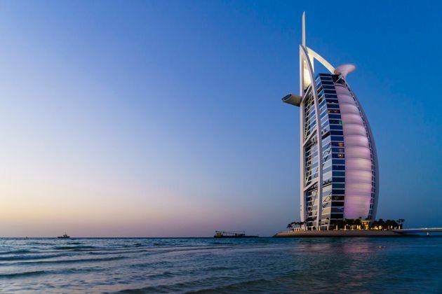 Burj Al Arab luxury hotel on Jumeirah Beach,