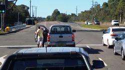 Man Seen Punching A Woman In Shocking Road Rage
