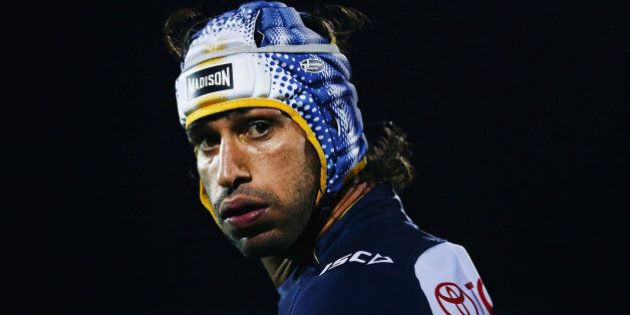 AUCKLAND, NEW ZEALAND - AUGUST 22: Johnathan Thurston of the Cowboys looks on during the round 24 NRL...