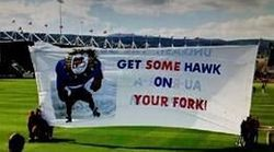 The Western Bulldogs' Banner Guy Is The Funniest Thing In