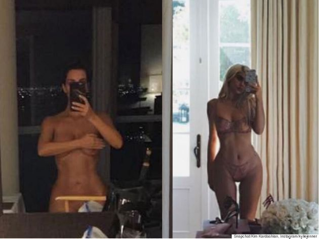 Kim Kardashian And Kylie Jenner Simultaneously Post Racy Mirror