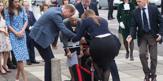 Prince William rushes to elderly man's aid after dramatic