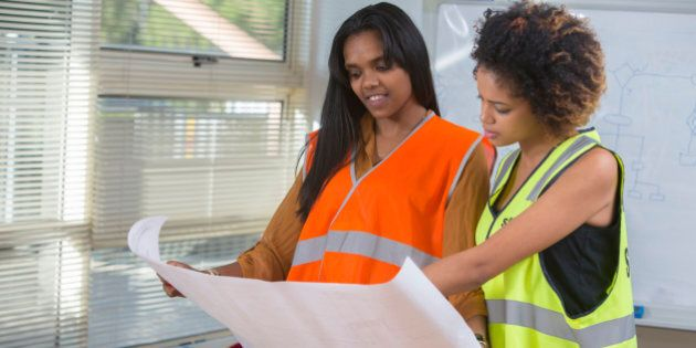Black women engineers or construction