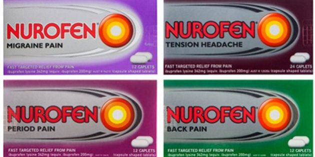 'Misleading' Nurofen Range Pulled Including Near-Identical Back Pain And Period Pain