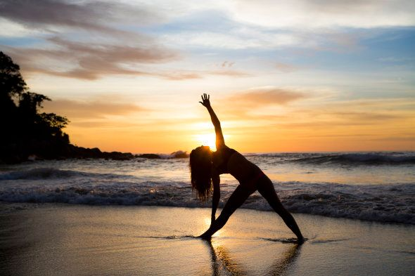 Try yoga on the beach for a super relaxing treat.