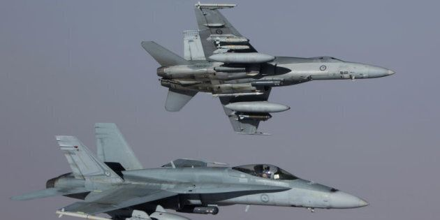 Two of the RAAF's Air Task Group's (ATG) F/A-18A