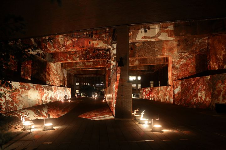 Renowned New York artist Jordan Eagles projects powerful illuminations of blood from gay, bisexual and transgender men
