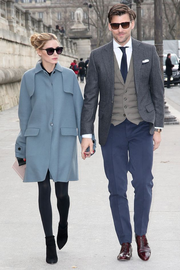 A lesson in colour coordination courtesy of Olivia Palermo and Johannes