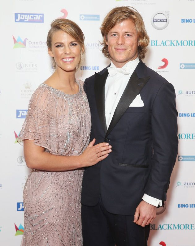 Torah and Angus at a Cure Brain Cancer Foundation event.