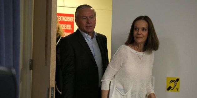 WA Premier Colin Barnett and wife