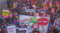 Thousands Descend On London For Anti-Austerity