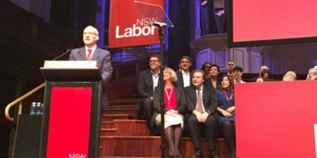 Luke Foley has addressed the NSW Labor