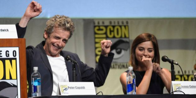Peter Capaldi, left, and Jenna Coleman attend the