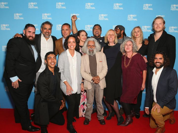 The cast and crew of 'Cleverman' at the world premiere of season two at the Sydney Film Festival.