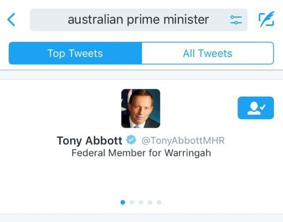 Twitter Still Thinks Tony Abbott Is The Australian Prime