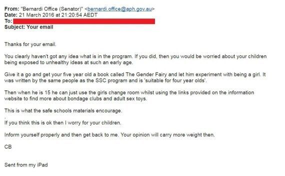 Explosive Email Reveals What Cory Bernardi REALLY Thinks About Safe