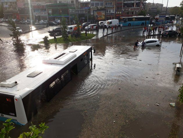 Heavy rainfall saw flash flooding cross the