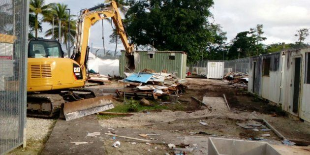 The Manus Island centre, in the early stages of