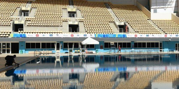 Picture of the Maria Lenk Aquatics Centre that will host the diving and synchronized swimming at the...