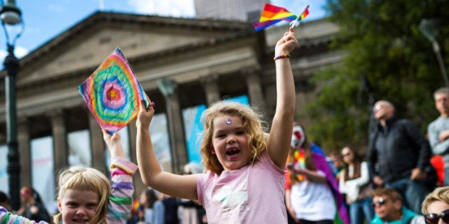 Support for equal marriage rights during an Equal Love marriage equality rally on May 20, 2017 in