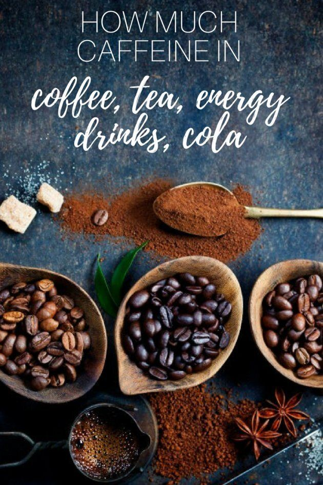 How Much Caffeine Is In Coffee, Tea, Cola And Energy