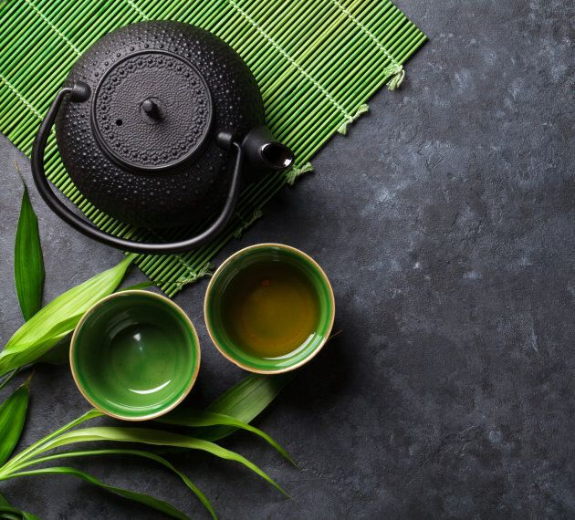 Green tea contains just as much caffeine as black tea.