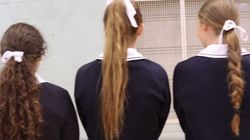 School Girls Cut Off Their Ponytails For A Good