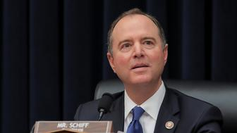 """House Intelligence Committee Chairman Adam Schiff (D-CA) chairs a House Intelligence Committee hearing titled """"Putin's Playbook: The Kremlin's Use of Oligarchs, Money and Intelligence in 2016 and Beyond"""" on Capitol Hill in Washington, U.S., March 28, 2019. REUTERS/Brendan McDermid"""