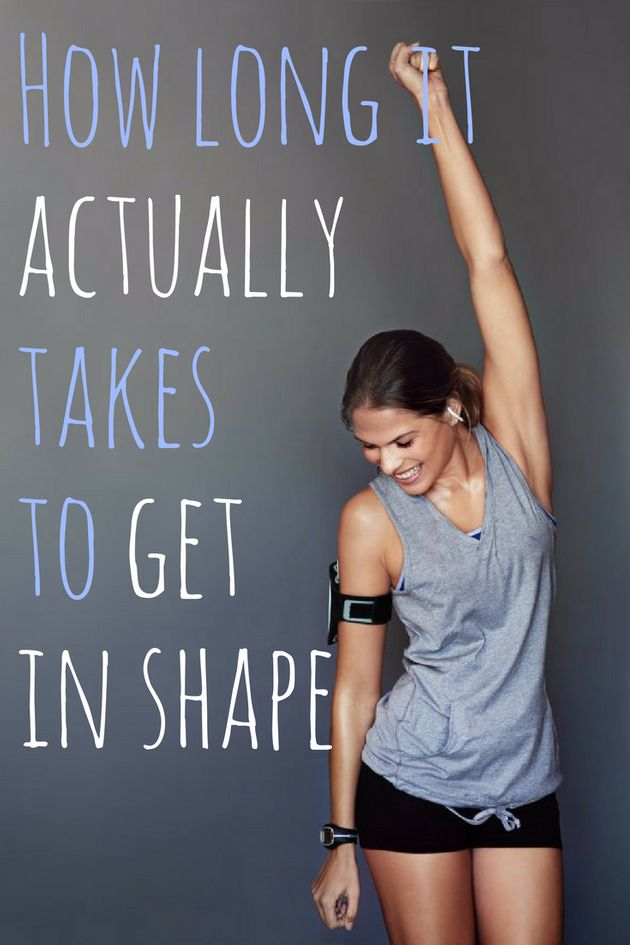 How Long It Actually Takes To Get In Shape For