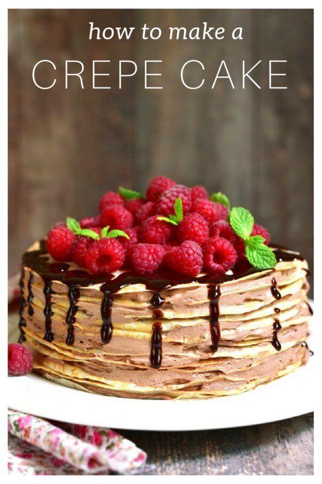 Easy Crepe Cake Recipe With Choc-Hazelnut