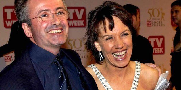 Andrew Denton with his wife Jennifer Byrne at the TV WEEK Logie