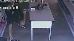 Clumsy Robber Falls Over, Loses His Shoe