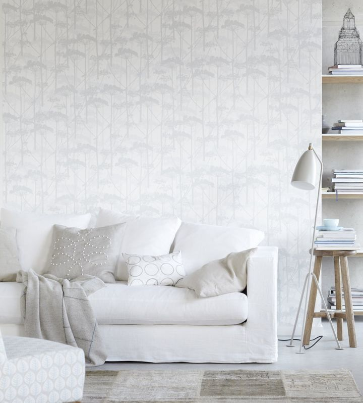 A white colour palette is calming and creates a sense of extra space.