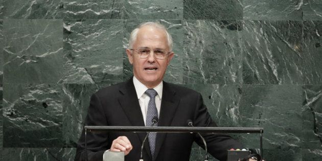 Prime Minister Malcolm Turnbull speaks during the 71st session of the United Nations General