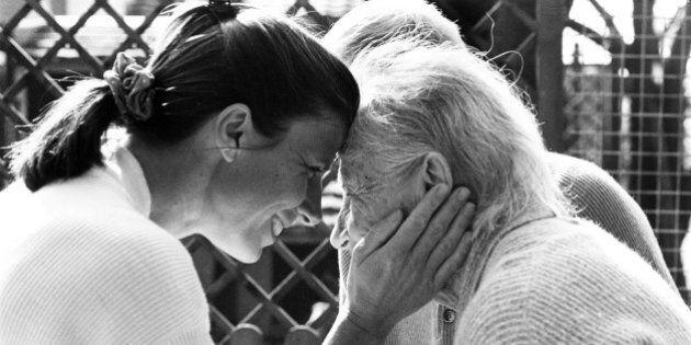 Alzheimer's patient with daughter. Zurich,
