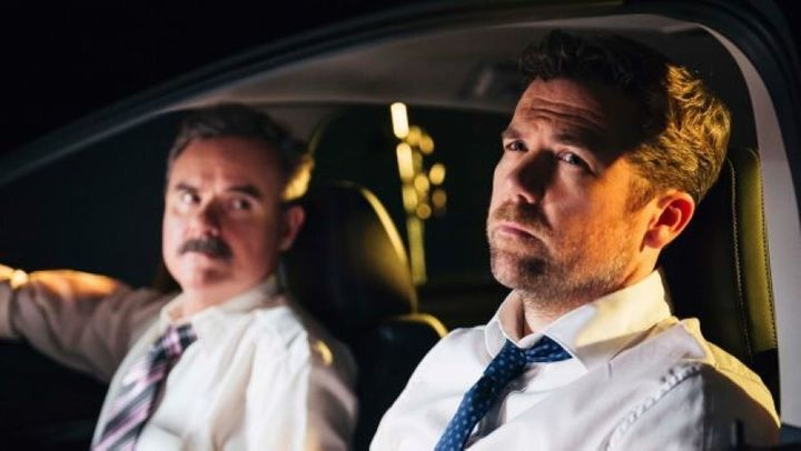Patrick Brammall and Darren Gilshenan star in Stan's 'No Activity' which is set to be remade by Will Ferrell's production company.