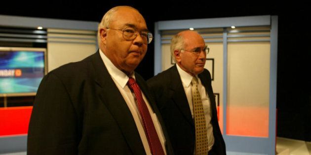 Laurie Oakes and former Prime Minister John Howard. One of many he has interviewed.