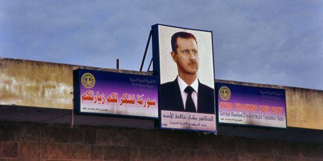 Portrait of Beshar Al Assad in Damasucus