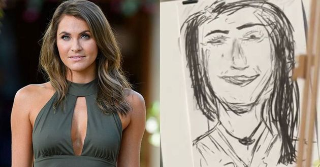 One of these is an actual photo of Laura while the other is Matty's drawing, but which is