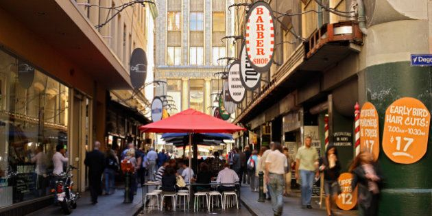 Degraves Street, Melbourne, Victoria,