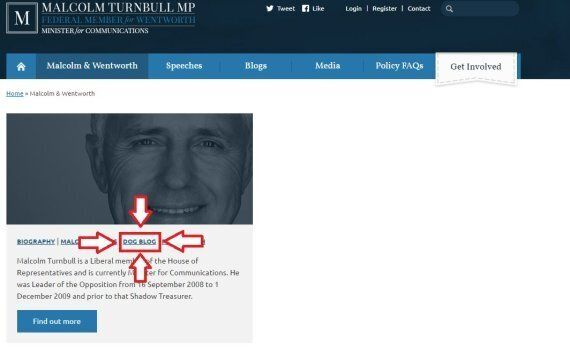 Malcolm Turnbull Has A Blog About