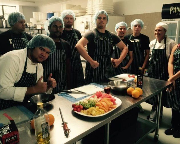 Ngalla Maya students during a Certificate III in Commercial Cookery course