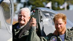 Prince Harry Honours Battle Of Britain Fighter