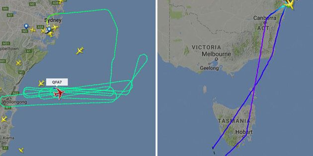 Qantas flight QF7 has been forced to dump fuel out over the ocean after wing parts were not functioning