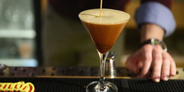 NEW YORK, NY - NOVEMBER 03: Mix up your holidays with a classic Kahl��a Espresso Martini. (Photo...